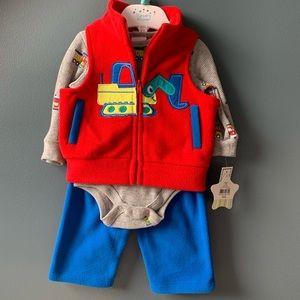 NWT Baby Boy Nursery Rhyme 3 pc Vest & Pants Set
